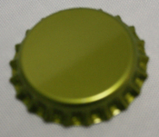Gold Bottle Caps W/Oxygen Barrier (144)